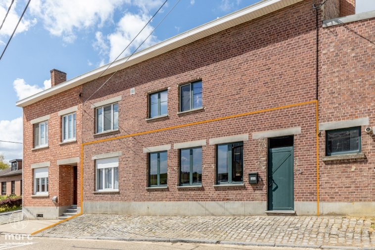 Te renoveren gelijkvloers appartement met 2 slaapkamers en zonneterras in prachtig Haspengouw