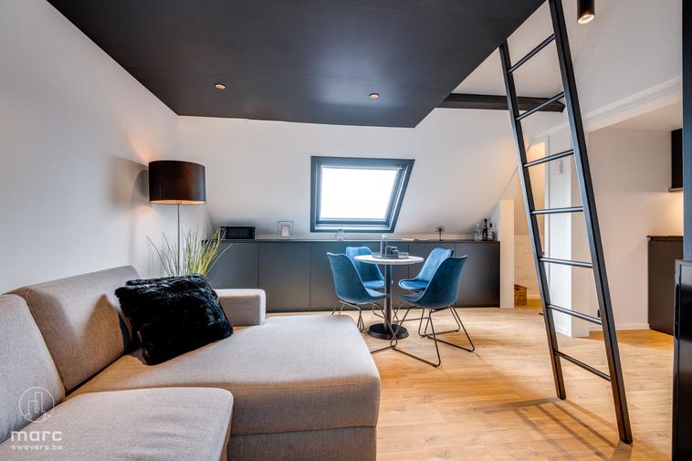 Prachtig gerenoveerde en gemeubelde studio op topligging in Hasselt