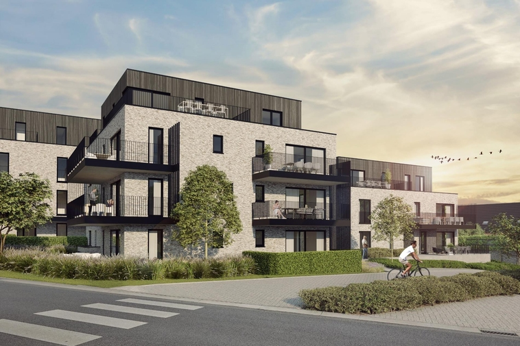 Nieuwbouw luxeappartement met twee slaapkamers & ruim terras