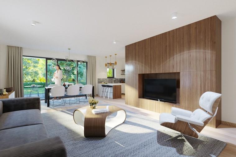 Luxueus gelijkvloersappartement met ruim terras, zicht op parktuin