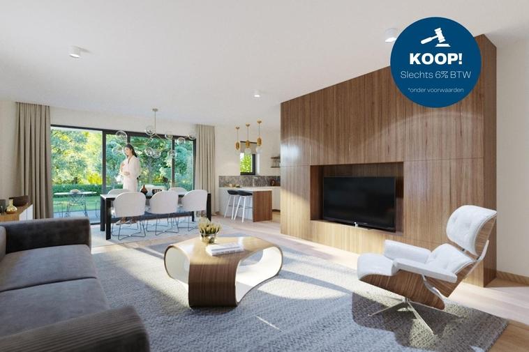 *6% BTW!* Fris gelijkvloers BEN >30 appartement met twee slaapkamers en twee ruime terrassen