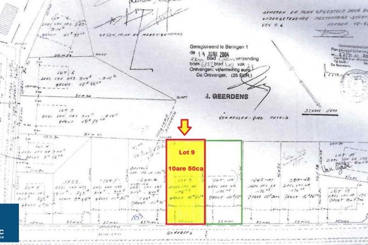 Verkocht | Mooi perceel bouwgrond van 10 are voor open bebouwing (grens Ham en Beringen)