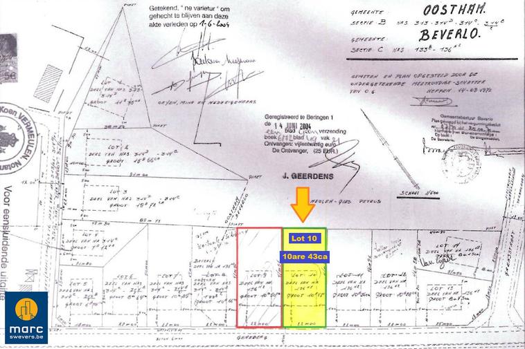 Mooi perceel bouwgrond van 10 are voor open bebouwing (grens Ham en Beringen)