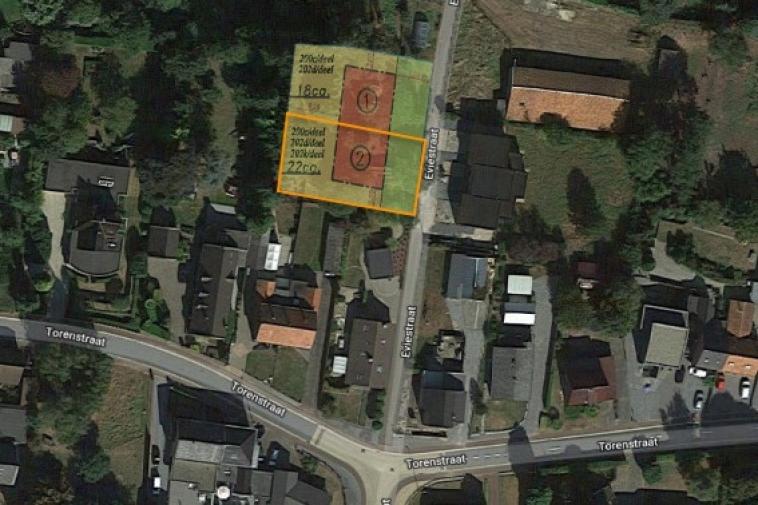 Rustig gelegen bouwgrond halfopen woning met westelijke oriëntatie lot 2 (links)