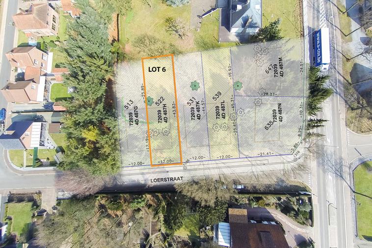 Lot 6: Rustig gelegen bouwgrond voor halfopen bebouwing in Lillo