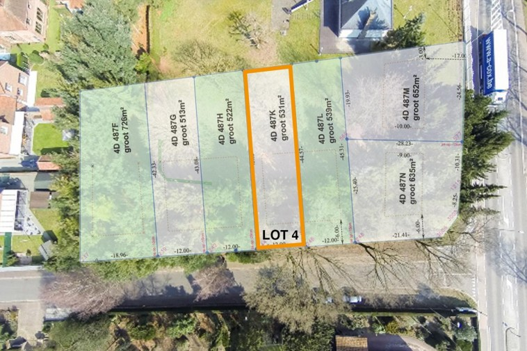 Te koop Lot 4: Rustig gelegen bouwgrond voor halfopen bebouwing in Lillo