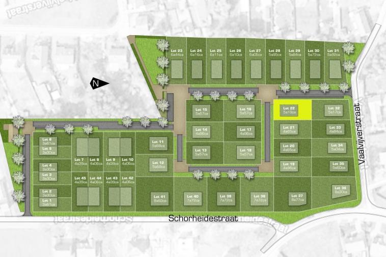 Verkocht | Bouwgrond voor open bebouwing (5 are19 ca) in verkaveling Schorheidestraat in Paal